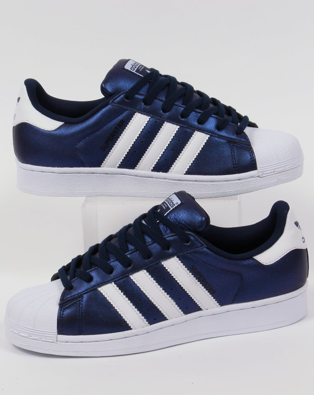SUPERSTAR - Sneaker low - white/bold blue PsyWt5w189