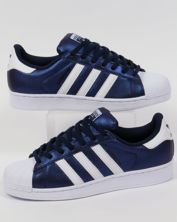 Adidas Superstar Trainers Bold Blue/White