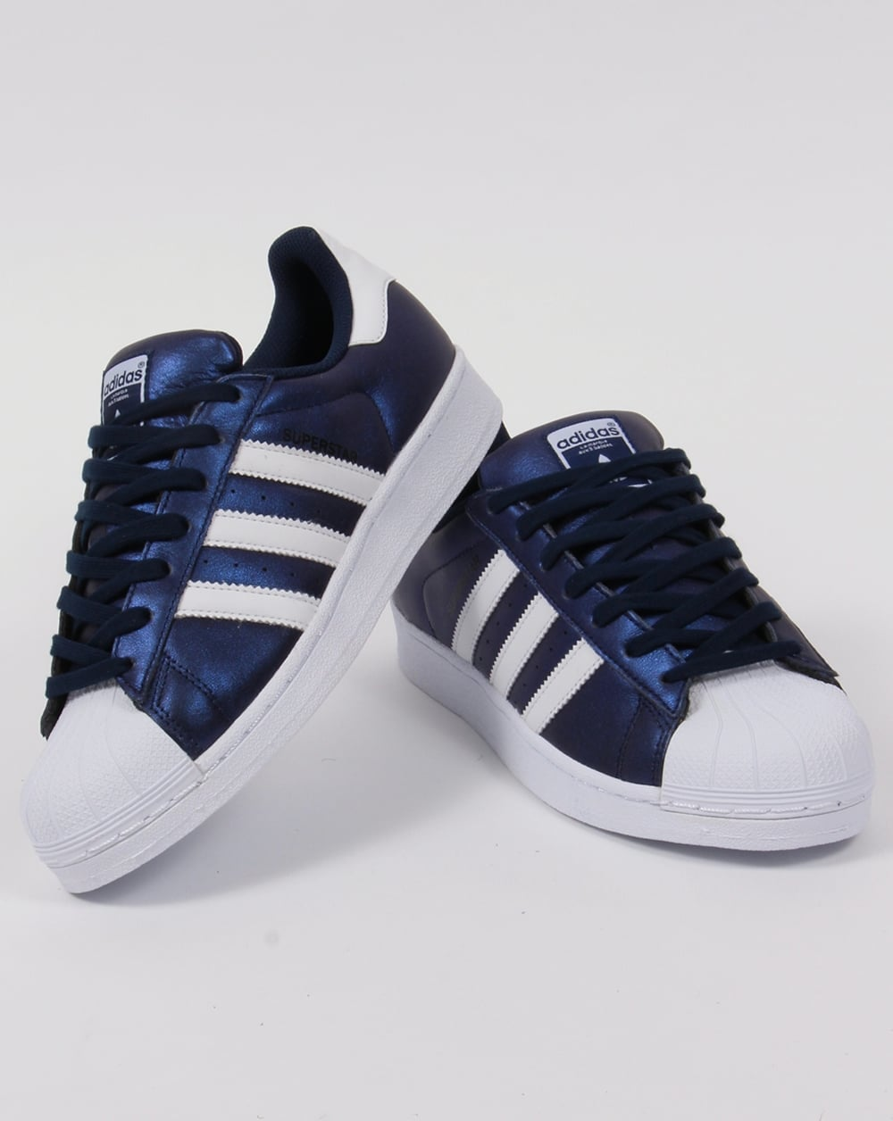 competitive price 1d76f 81515 Adidas Superstar Trainers Bold Blue White