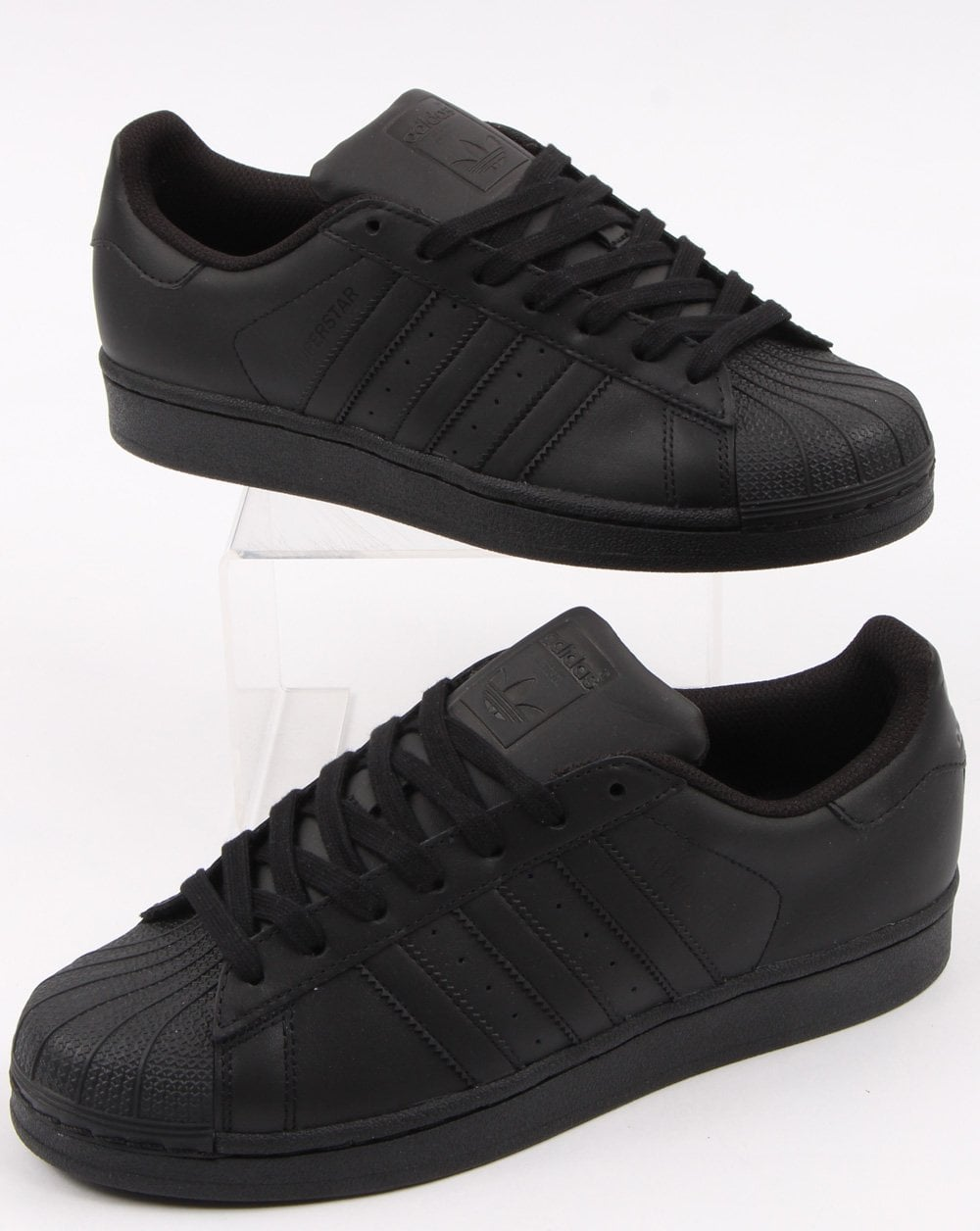 timeless design d7396 f49e4 Adidas Superstar Trainers Triple Black