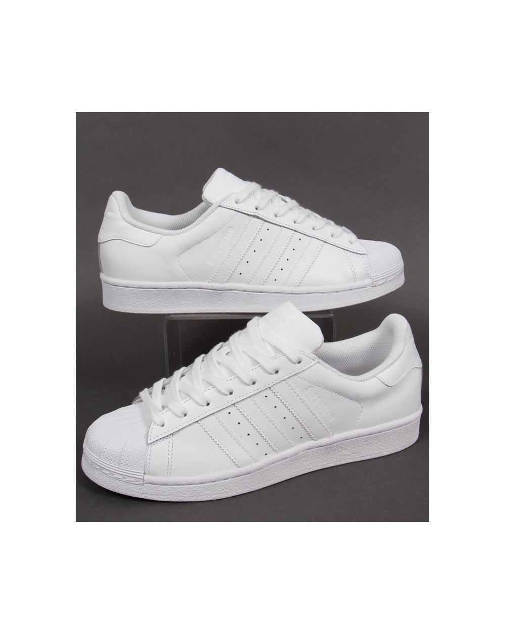 adidas superstar trainers triple white shoes basketball mens. Black Bedroom Furniture Sets. Home Design Ideas