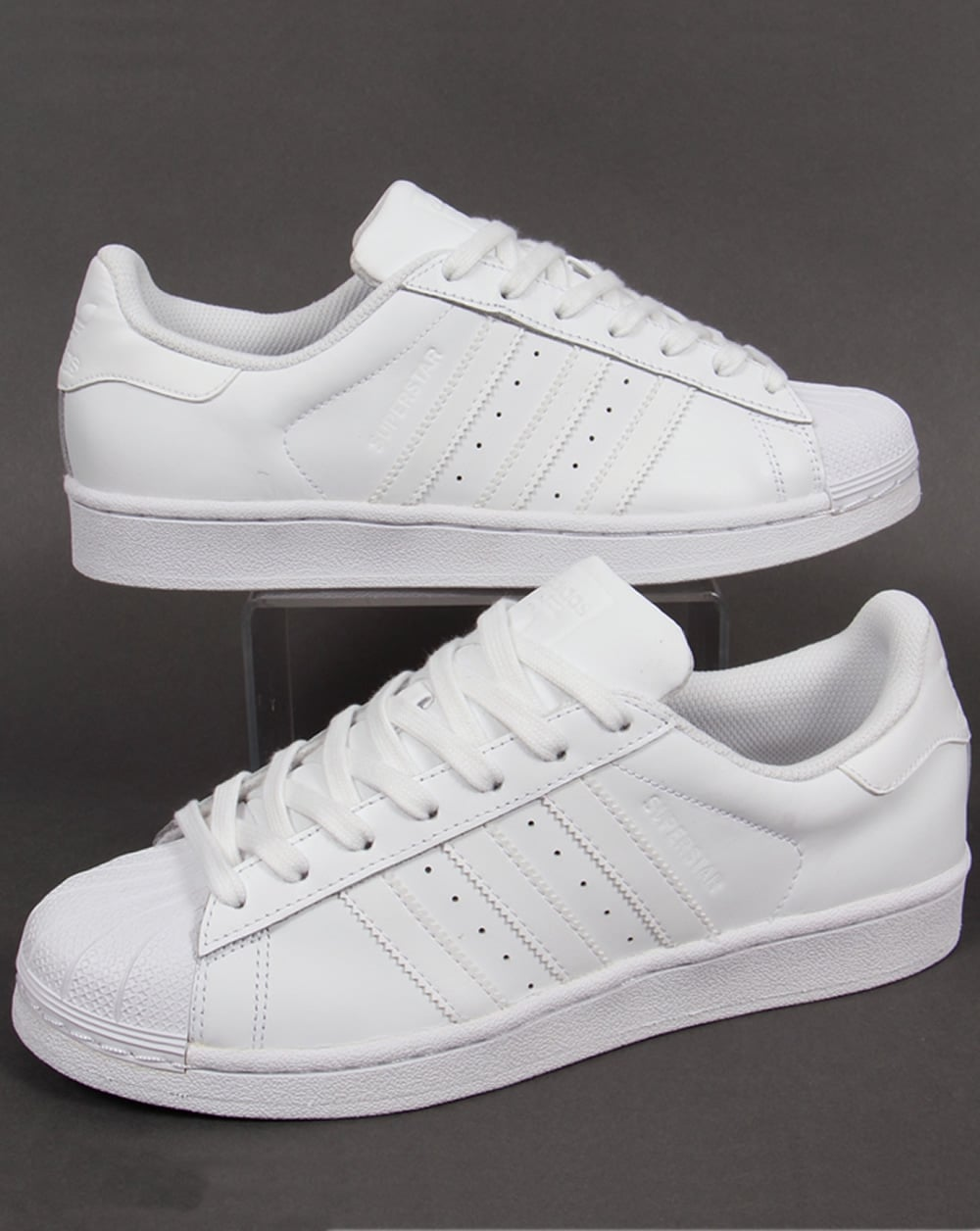 wholesale dealer 9719b fe8ea Adidas Superstar Trainers Triple White