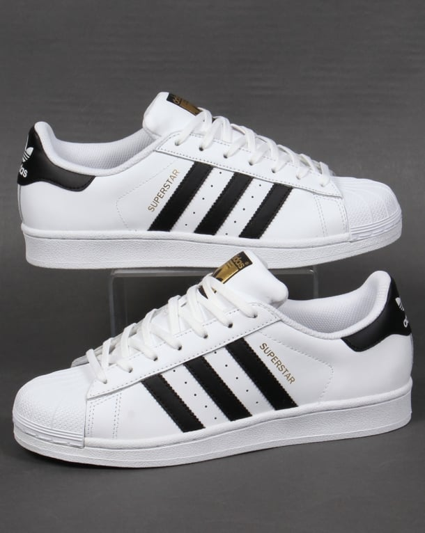 Adidas Superstar Trainers White/Black