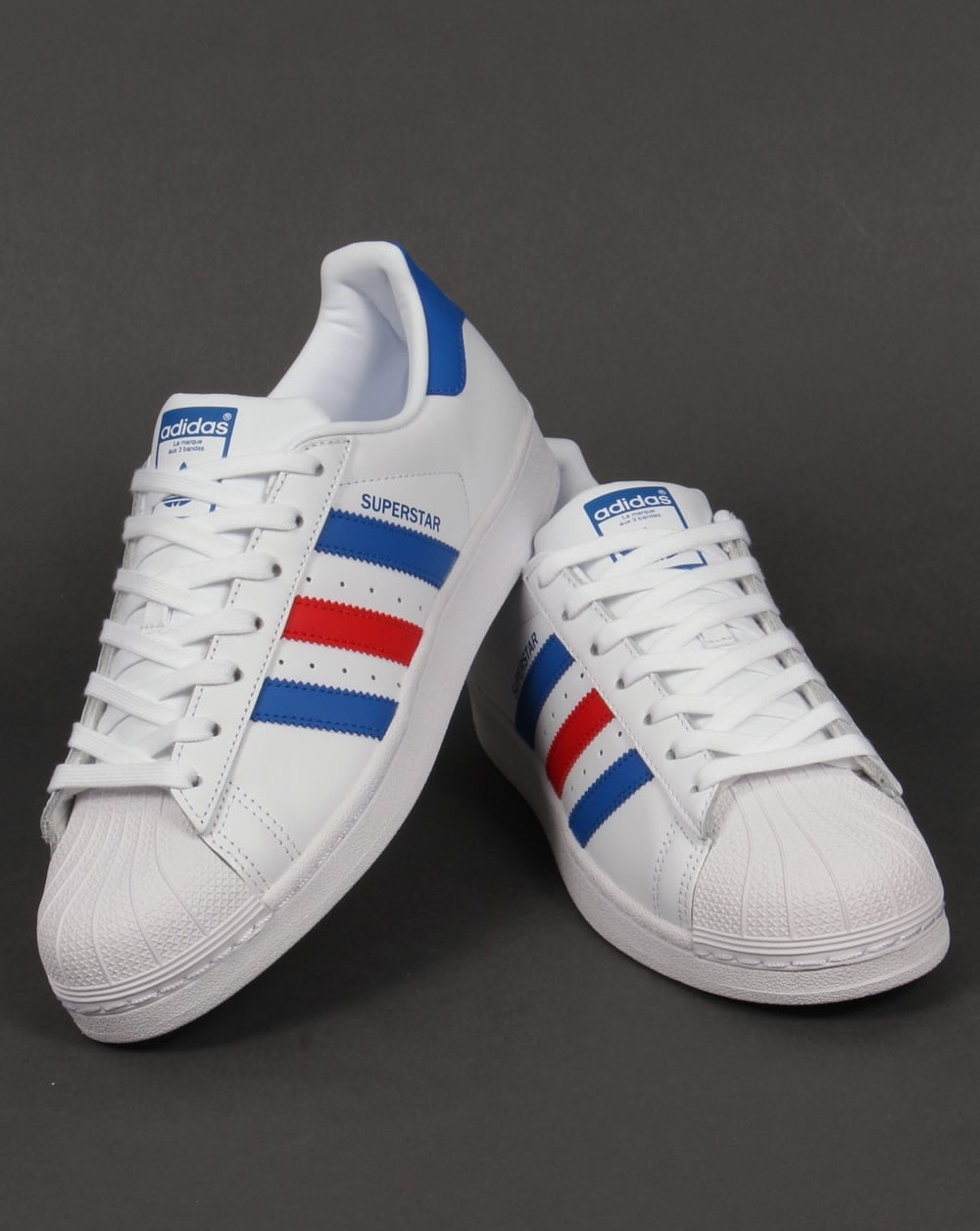 Cheap Adidas Originals Men's Superstar White and Core Black Leather