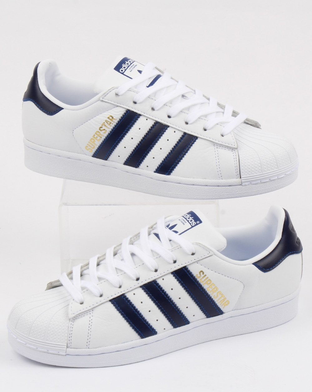 more photos 34f32 c30a1 adidas Trainers Adidas Superstar Trainers White Collegiate Blue