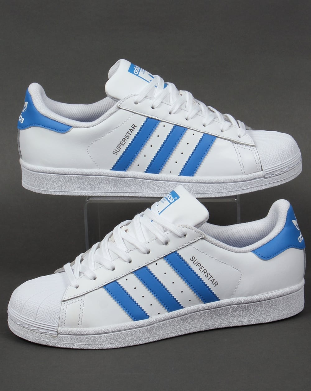 royal blue adidas superstars