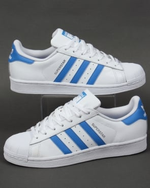 Adidas Trainers Adidas Superstar Trainers White/Ray Blue