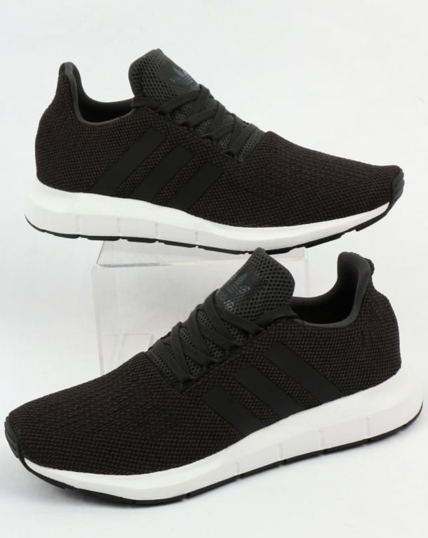 Adidas Swift Run Trainers Carbon/Black/Grey