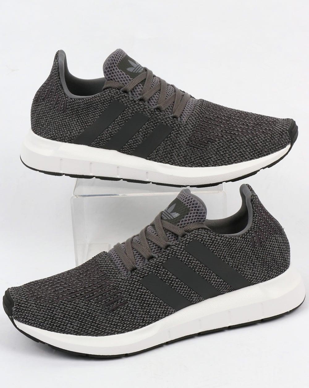 fb9215b7f4590 adidas Trainers Adidas Swift Run Trainers Grey Black