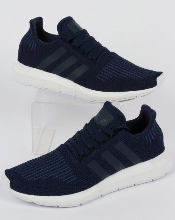 new style 54085 15b4b ... ebay adidas swift run trainers navy white 04322 591ec