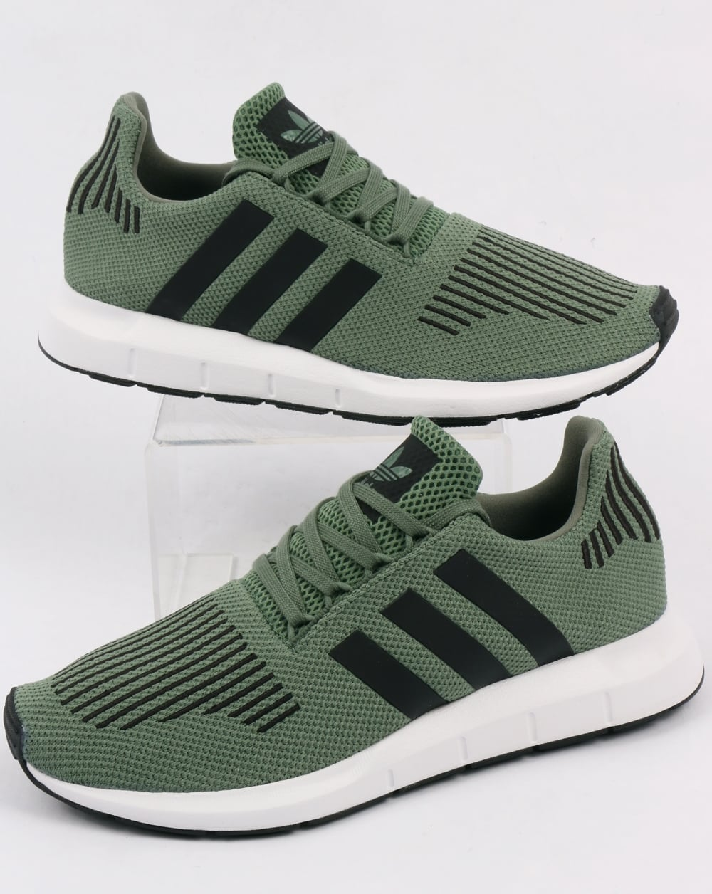 adidas swift run trainers trace green black runners prime knit shoes. Black Bedroom Furniture Sets. Home Design Ideas