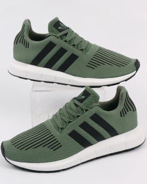 Adidas Swift Run Trainers Trace Green/black