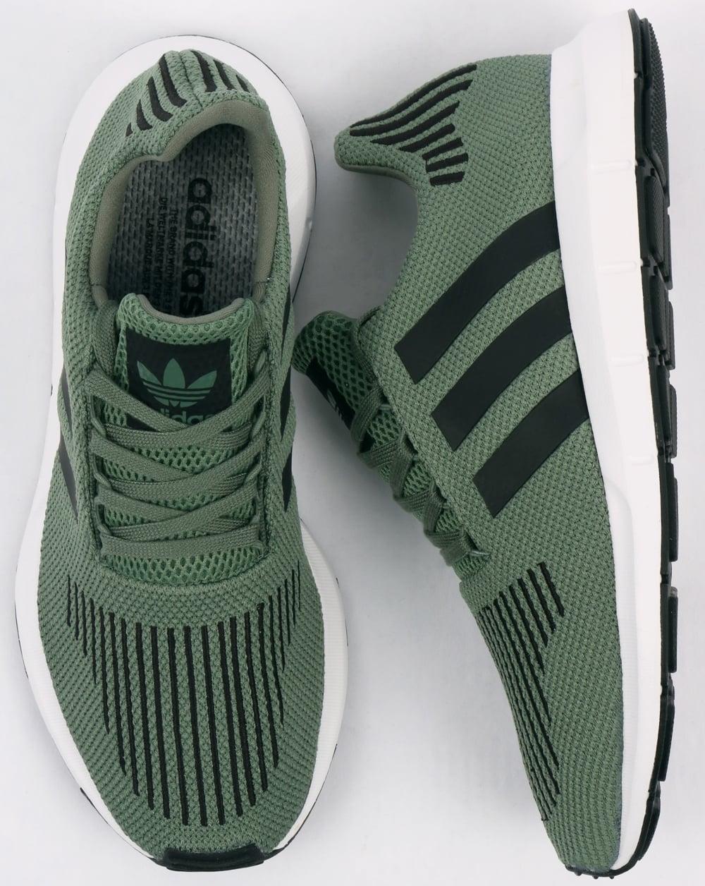 9d3253b8ecccd3 Adidas Swift Run Trainers Trace Green Black