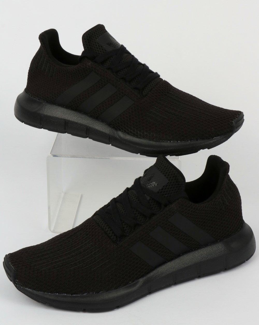 8768070a1d70c1 adidas Trainers Adidas Swift Run Trainers Triple Black