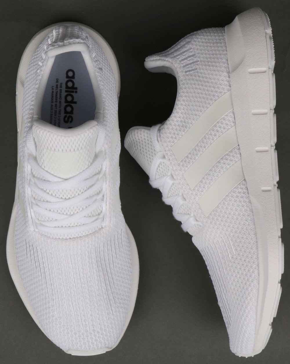 adidas Originals Swift Run Trainers In Triple White