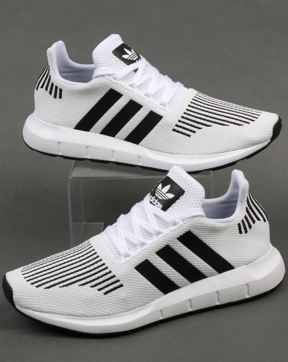 adidas swift run trainers white black grey runners prime knit shoes. Black Bedroom Furniture Sets. Home Design Ideas