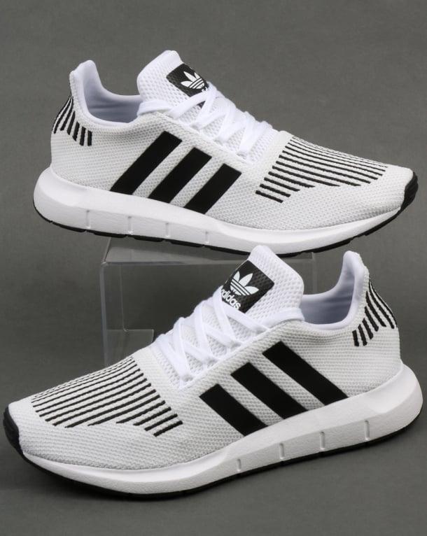 Adidas Swift Run Trainers White/Black/Grey