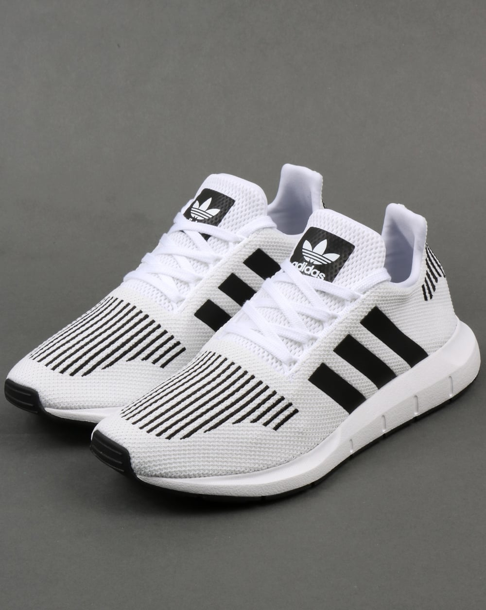 55b368c11aa58 Adidas Swift Run Trainers White Black Grey
