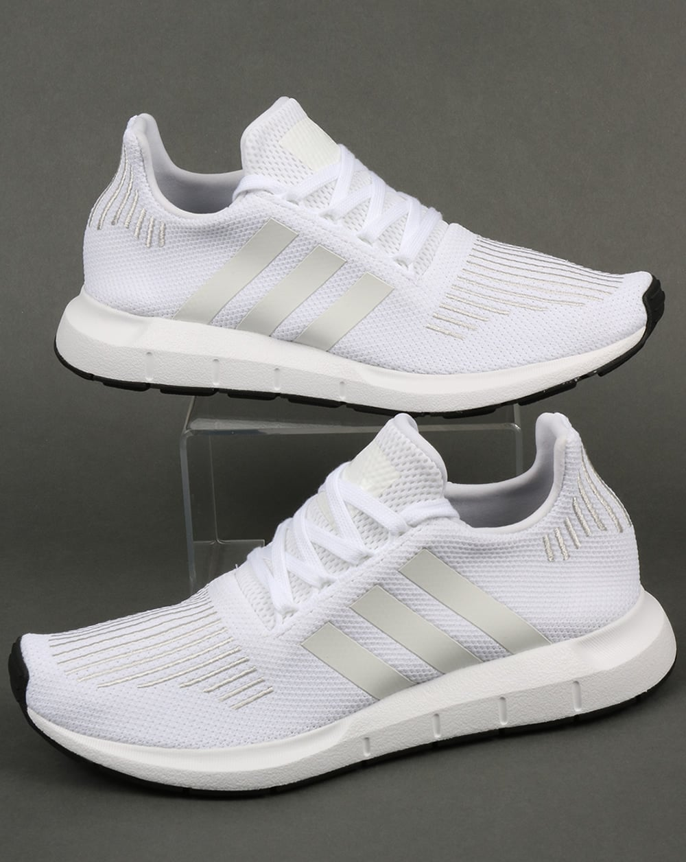 adidas swift run trainers white shoes running prime knit runners mens. Black Bedroom Furniture Sets. Home Design Ideas