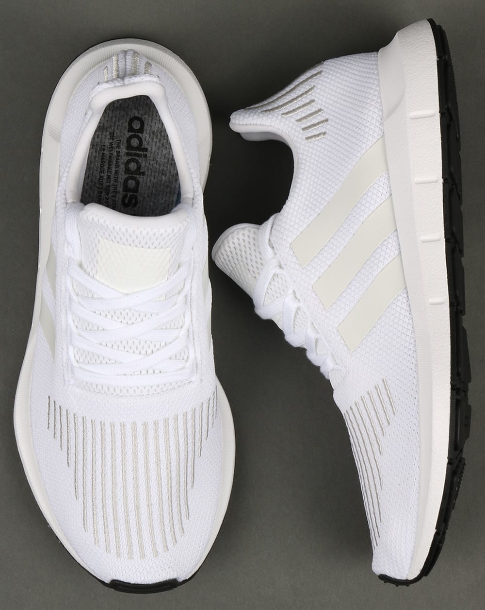 adidas swift run trainers white shoes running prime knit