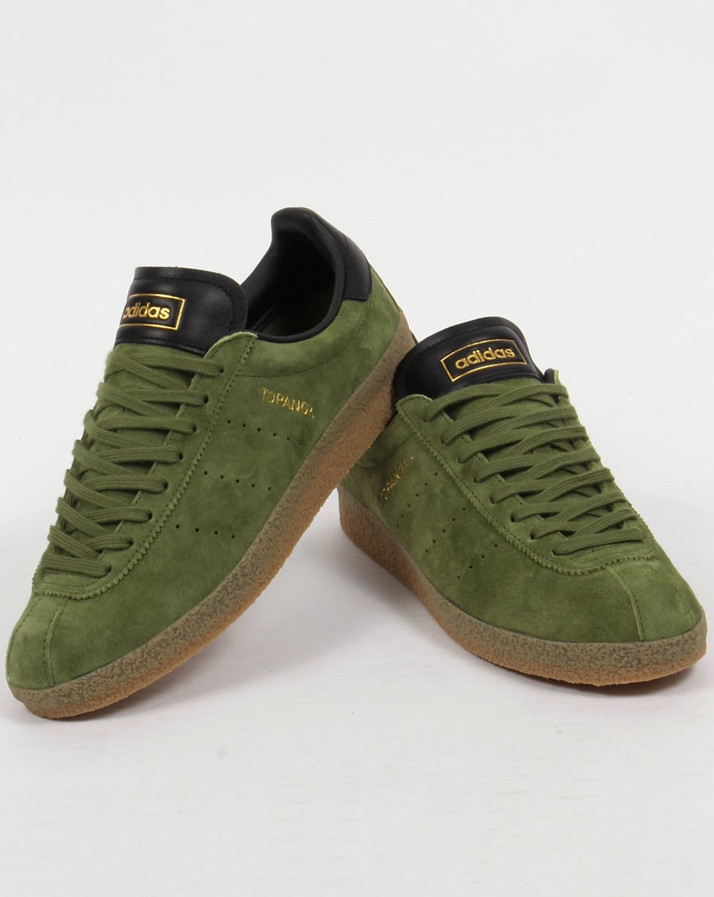 online store 25195 168cf Adidas Topanga Clean Trainers Craft Green Black