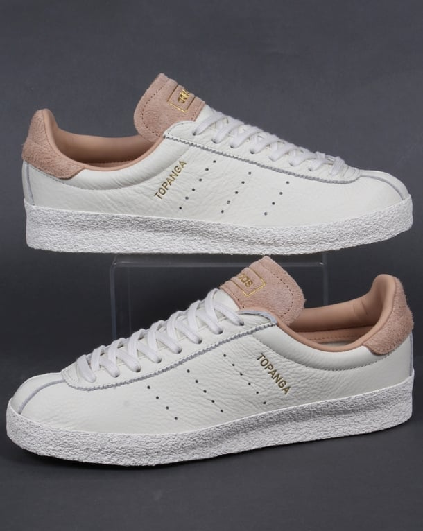 Adidas Topanga Leather Trainers Off White/Clean
