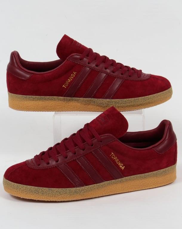 Adidas Topanga Trainers Burgundy/Gum