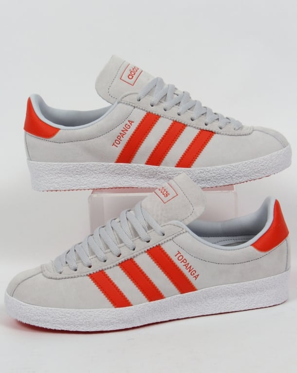 Adidas Topanga Trainers Chalk Grey/Orange