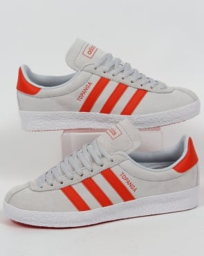 Adidas Trainers Adidas Topanga Trainers Chalk Grey/Orange