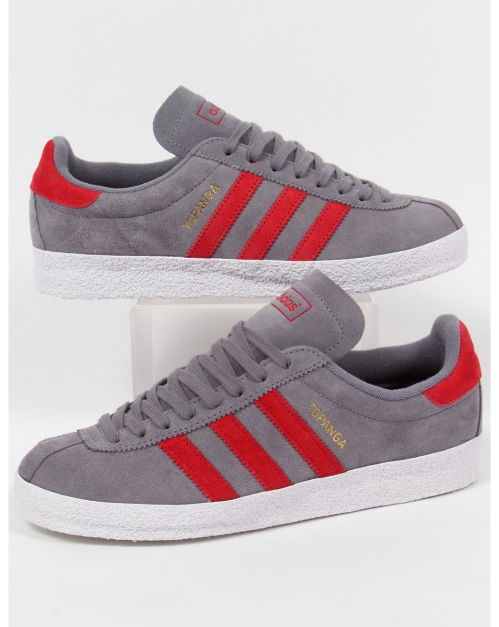 b00d3763a77 adidas Trainers Adidas Topanga Trainers Grey red white