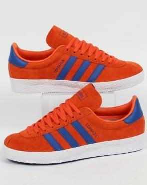 Adidas Trainers Adidas Topanga Trainers Orange/Royal Blue