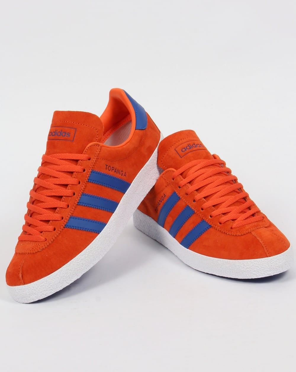 orange adidas trainers
