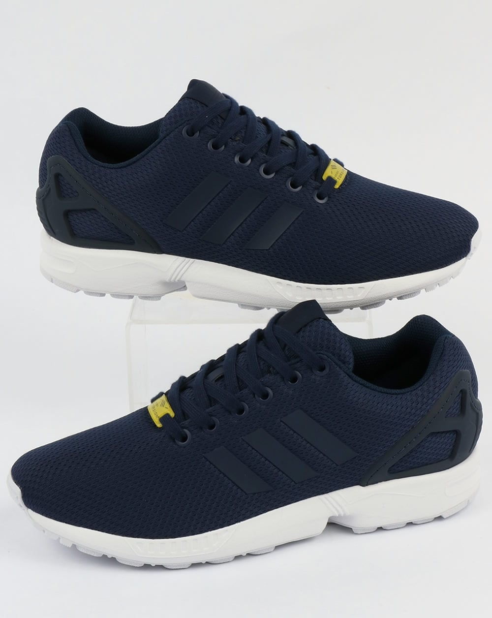 quality design d9e4e 41b46 Adidas ZX Flux Trainers New Navy/White