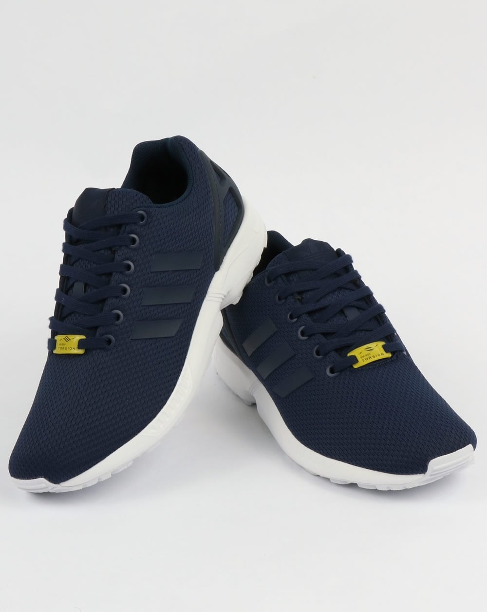 quality design d1cb5 78dcc Adidas ZX Flux Trainers New Navy/White