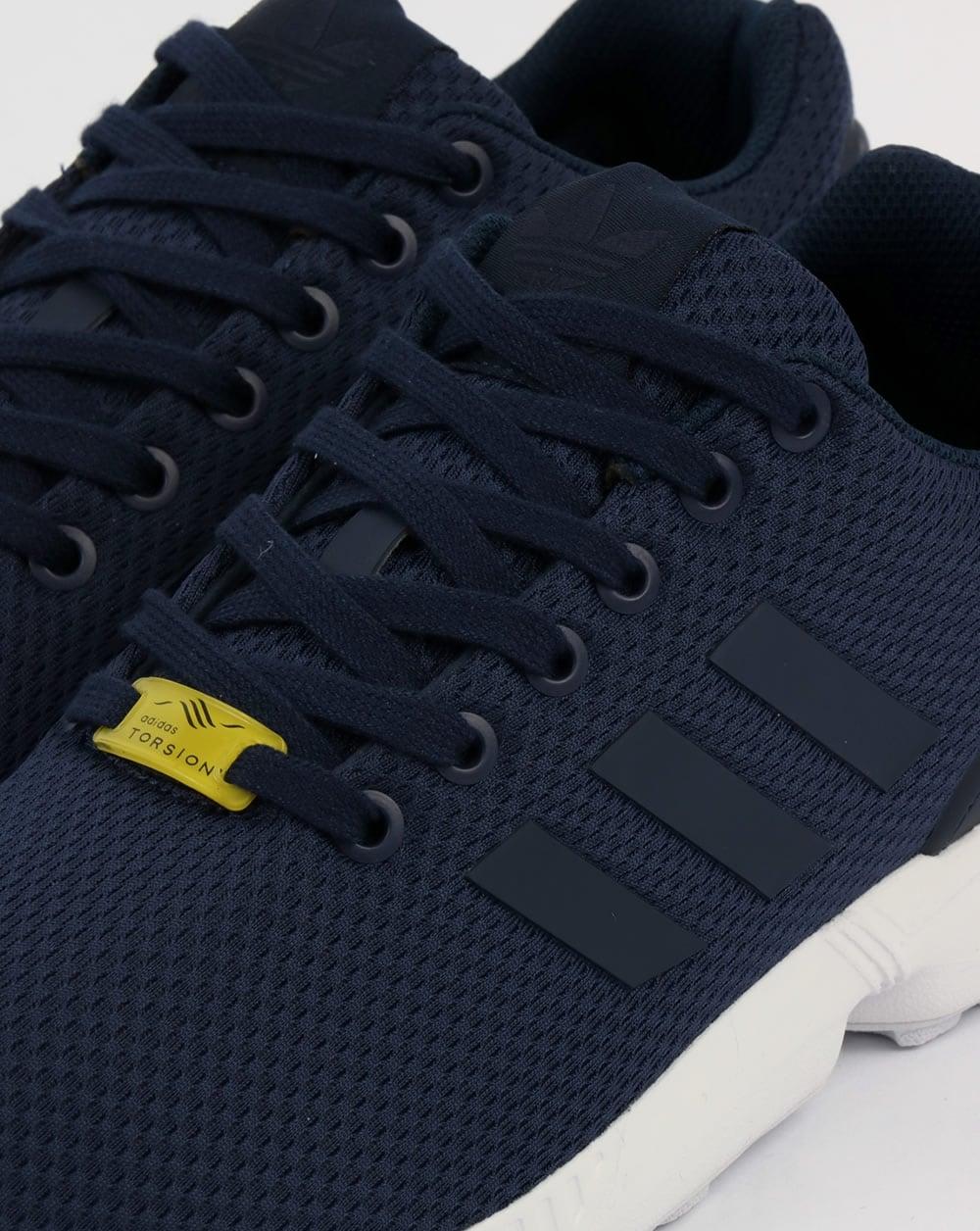 arrives 1b8a4 a68ab Adidas ZX Flux Trainers New NavyWhite