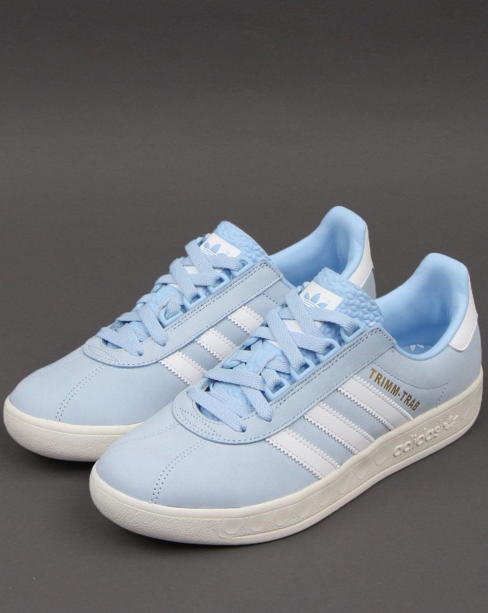 Buscar a tientas Reposición convergencia  Adidas Trimm Trab Trainers Sky Blue/White - 80s Casual Classics