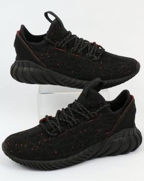 adidas Trainers Adidas Tubular Doom Sock Trainers Black/Black/Trace Olive