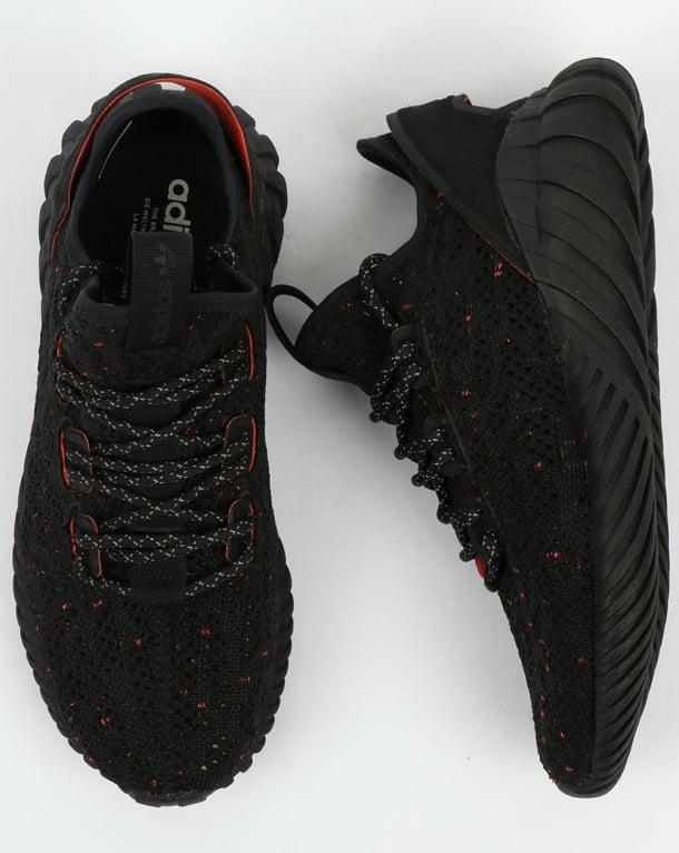 low priced b3d8f cd3a5 Adidas Tubular Doom Sock Trainers Black/Black/Trace Olive