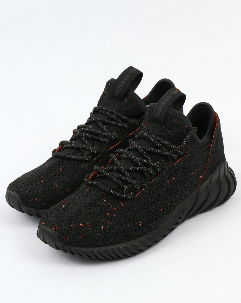 low priced 0686f 318fe Adidas Tubular Doom Sock Trainers Black/Black/Trace Olive
