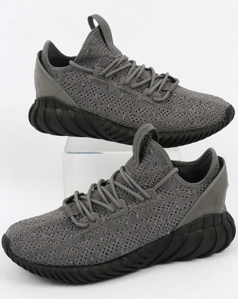 new concept 78ed8 8425d adidas Trainers Adidas Tubular Doom Sock Trainers Grey Black White