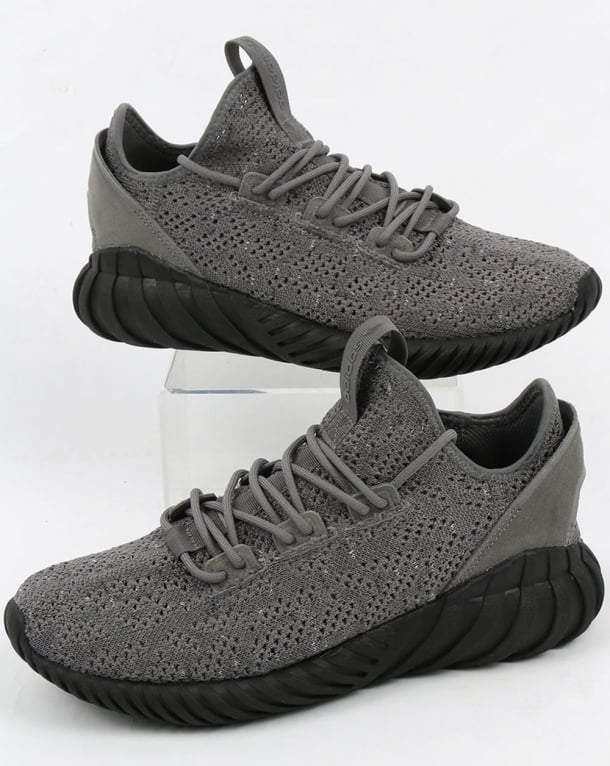 Adidas Tubular Doom Sock Trainers Grey/Black/White