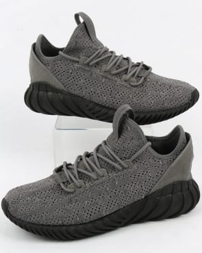 adidas Trainers Adidas Tubular Doom Sock Trainers Grey/Black/White