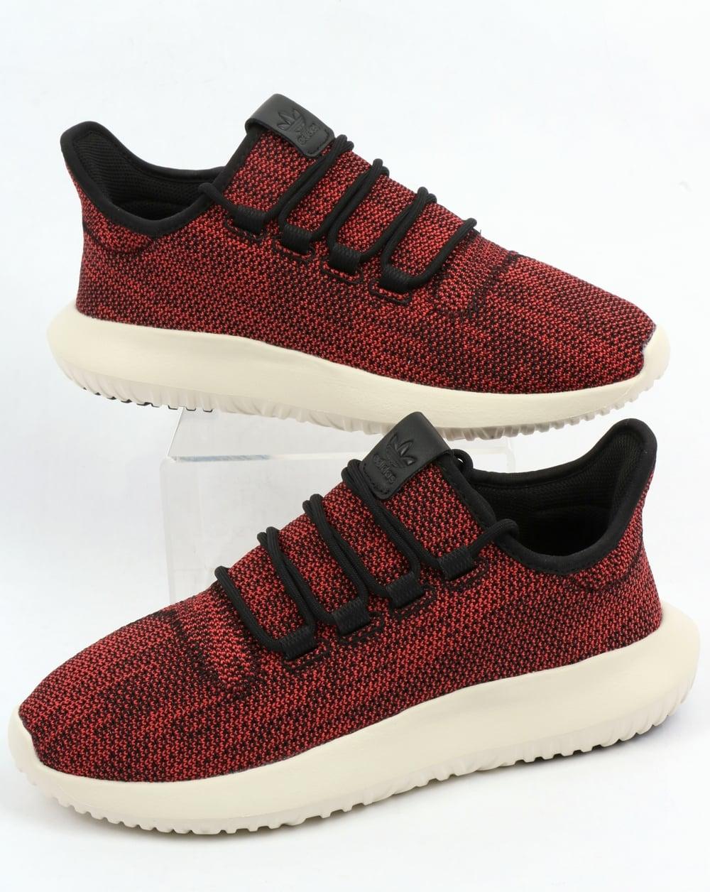 1d3504ecd625 Adidas Tubular Shadow CK Trainers Black Scarlet