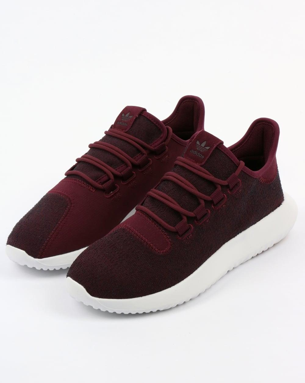 11 M US adidas Originals Mens Tubular Shadow Sneaker Maroon//Vapour Grey//White