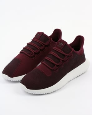 adidas Trainers Adidas Tubular Shadow Trainers Maroon/Vapour Grey