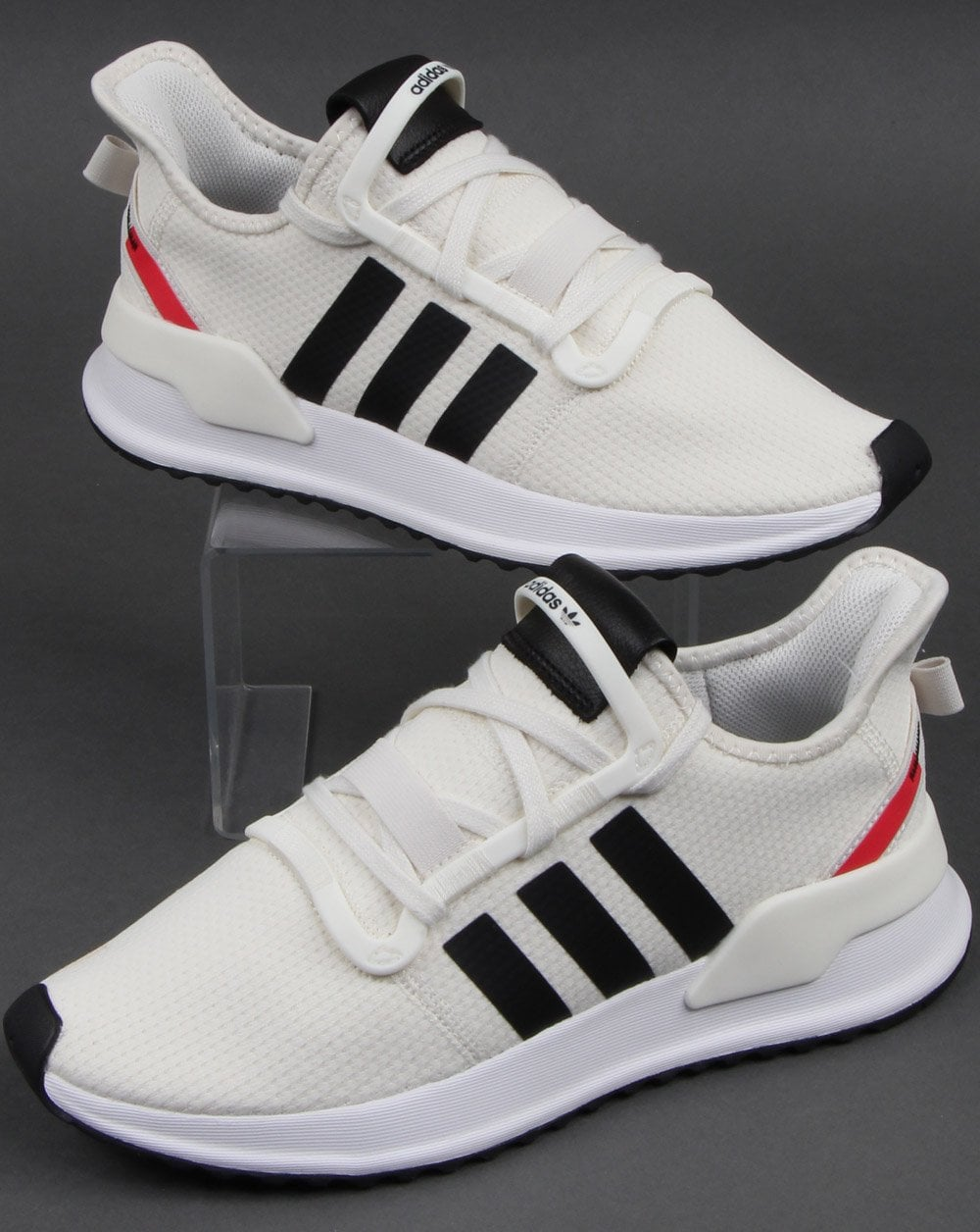 hot sales on feet images of hot sales Adidas U_path Run Trainers Off White/black/shock Red