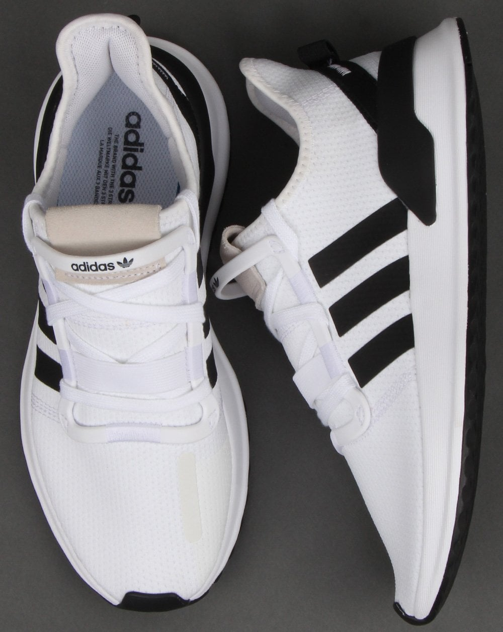 f56a9083526 Adidas U path Run Trainers White black - Shop More Adidas at 80sCC