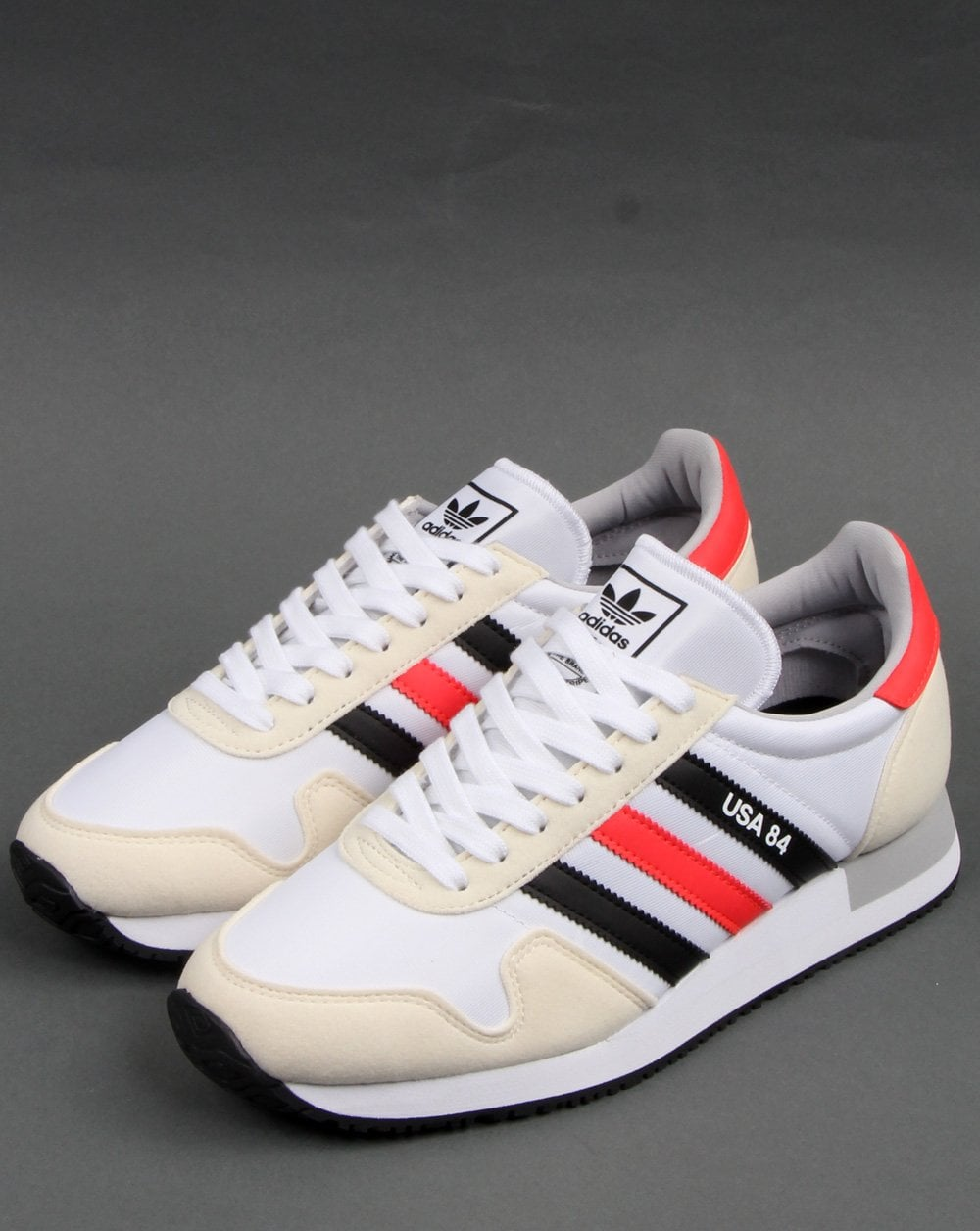 Adidas Usa 84 Trainers White/Black/Red