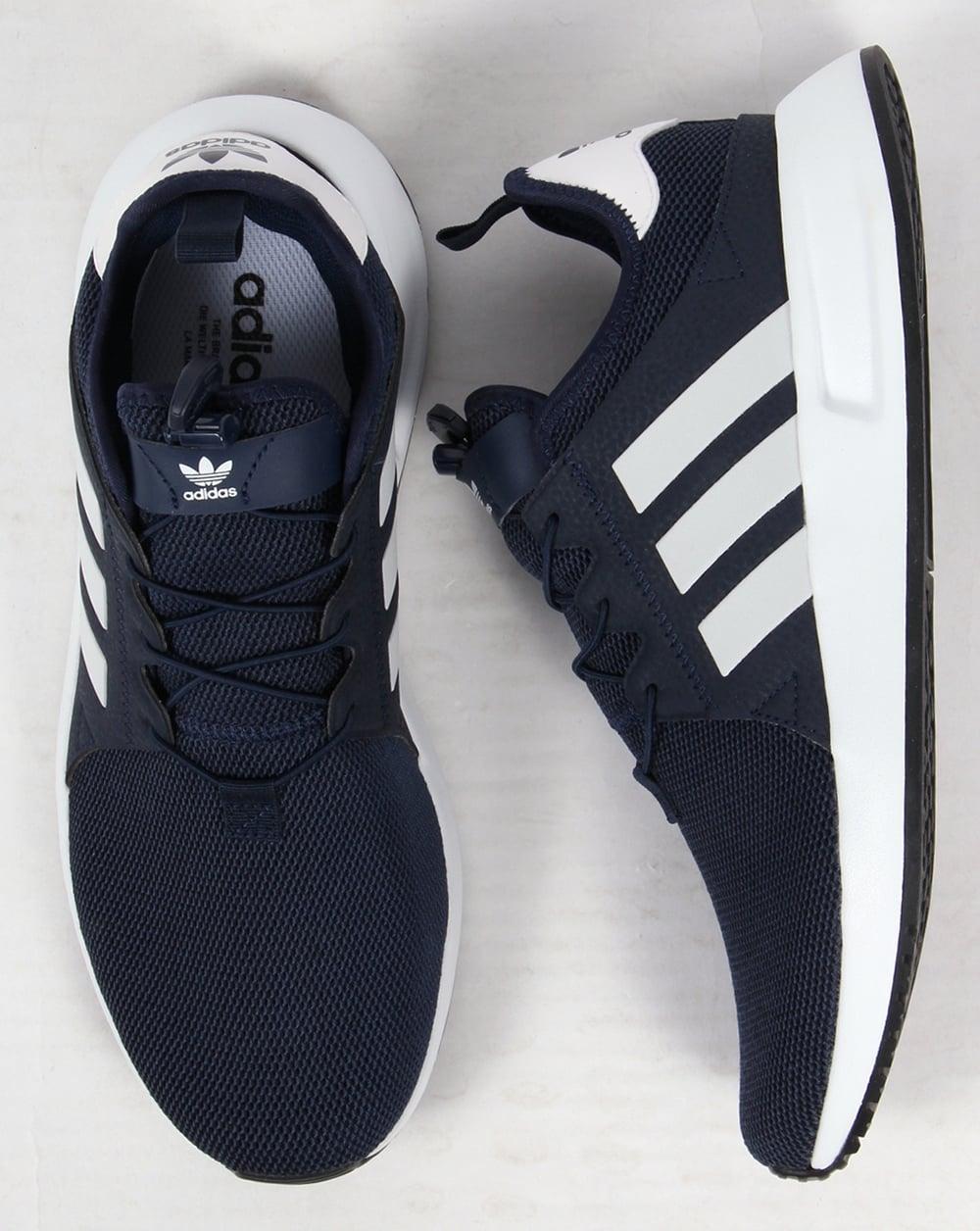 adidas xplr trainers navy/white