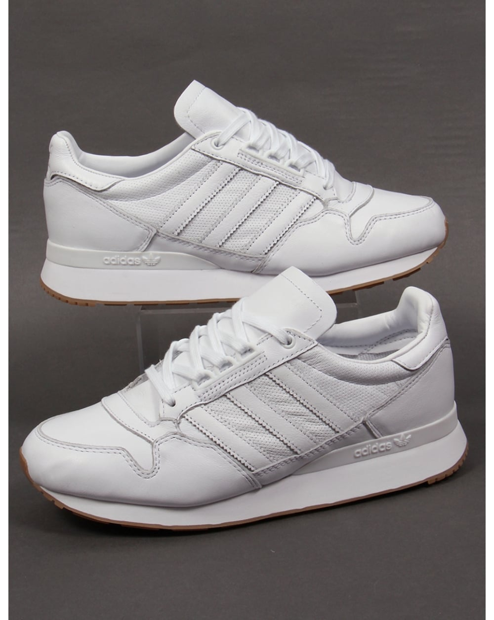 leather adidas zx trainers